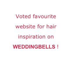 Voted favourite website for hair inspiration on WEDDINGBELLS !